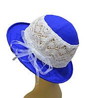 Детская шляпка Ялта синяя
