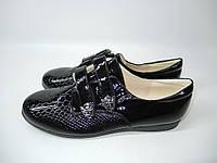 Лаковые туфли на шнурках 32-37 р