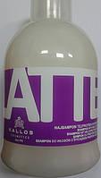 """Шампунь """"Kallos Latte"""" с молочным протеином для сухих и поврежденных волос 1000мл."""