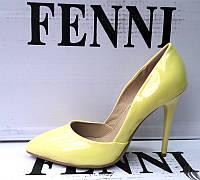 Туфли лодочки лаковые на шпильке разные цвета F0007