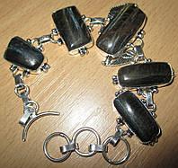 """Серебряной браслет с соколиным глазом """"Крыло Ангела"""" от LadyStyle.Biz"""