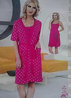 Женский комплект халат с ночной рубашкой SIS-129