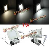 3вт квадратные потолочные панели белый/теплый белый LED освещения AC 85-265в