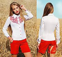 Украинская патриотическая блузка с принтом по мотивам национальной вышивки
