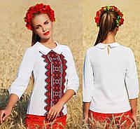 Женская блузка с украинской вышивкой