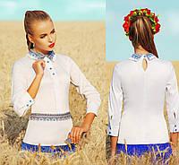 Женская приталенная блузка с украинским орнаментом