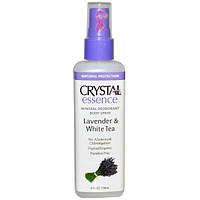 Дезодорант - спрей Кристал, Лаванда и Белий чай / Crystal Essence Mineral Deodorant Body Spray / 118 ml
