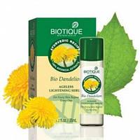 Омолаживающая сыворотка с одуванчиком Био Одуванчик, Biotique Bio Dandelion Ageless Lightening Serum, 40 мл.