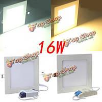 Площадь 16вт белый/теплый белый панель LED потолочный светильник светильник 85-265в