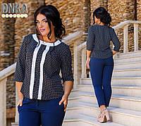 Женская легкая батальная блуза в расцветках ДГ1221