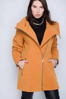 Демисезонное кашемировое пальто с капюшоном Большие размеры