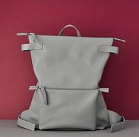 Женский рюкзак из кожи Pogo Gray А4 формат портфель