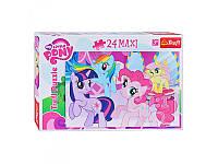 "Пазлы Maxi My Little Pony ""Дружба это Магия"" Trefl 14182, 24 детали"
