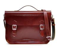 Женская красная кожаная сумка на плечо А4 SATCHEL маленький размер сетчел