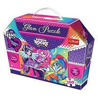 "Пазлы с блестками ""Hasbro.My Little Pony.Радужный рок"" 14808 Trefl, 100 дет"