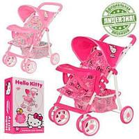 Коляска для кукол Hello Kitty HK 00026: 2 вида, 51х29,5х55 см, поворот передних колес, металл+ткань