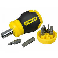 """Отвертка Stanley """"Multibit Stubby"""" с 6-ю сменными битами, 0-66-357"""