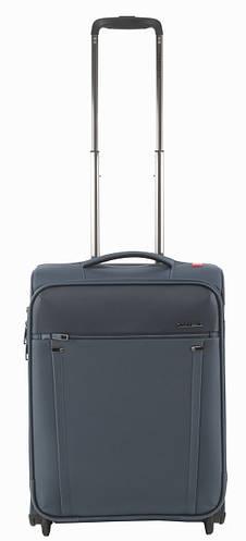 Малый практичный 2-колесный чемодан, тканевый 40 л. Roncato Zero Gravity 4403/23 т.синий