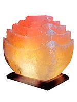 """Соляной светильник """"Пагода"""" 5-6кг с цветной лампочкой"""