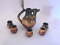 Декоративный кувшин cо стаканами для вина