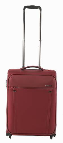 Стильный тканевый 2-колесный чемодан, малый 40 л. Roncato Zero Gravity 4403/89 т.красный