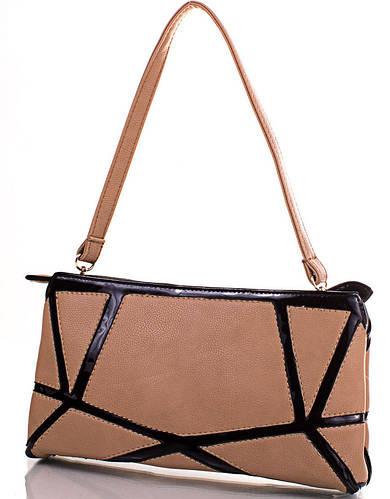 Качественная сумка-клатч из кожзаменителя ANNA&LI (АННА И ЛИ) TUP13842-12 (бежевый)