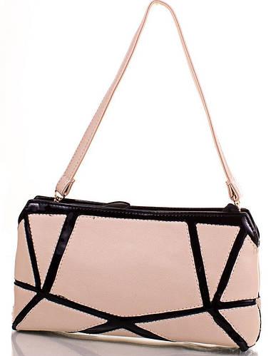 Красивая сумка-клатч из качественного кожзаменителя ANNA&LI (АННА И ЛИ) TUP13842-12-1  (бежевый)