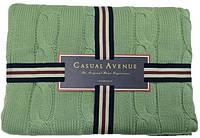 Вязаный хлопковый плед 130х170 Messina SEAFOAM от CASUAL AVENUE
