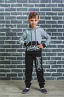 Костюм спортивный с капюшоном светло-серый, фото 1