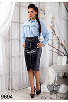 Стильная кожанная юбка, доставка по Украине