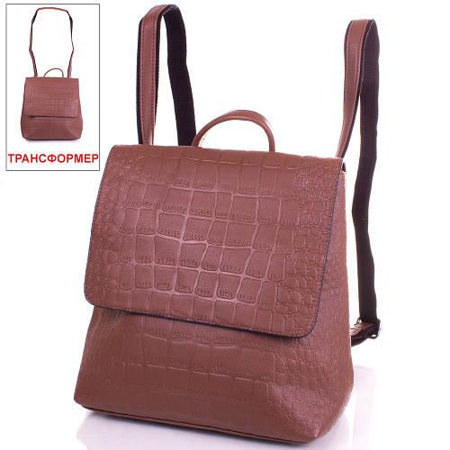 Стильная сумка-рюкзак из качественного кожзаменителя ANNA&LI (АННА И ЛИ) TUP14471-10-1 (коричневый)
