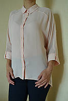 Блуза-рубашка женская розовая деловой стиль