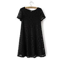 Платье женское кружевное летнее черное