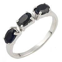 """Серебряное кольцо с сапфиром """"Изящность"""""""