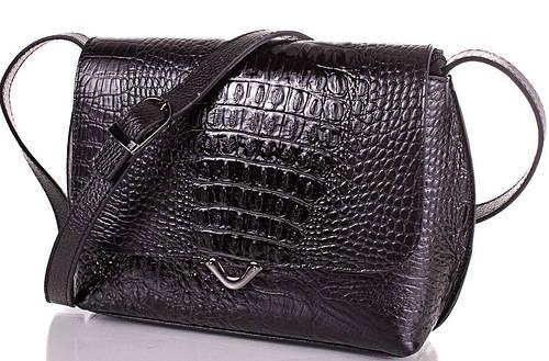 Изысканная женская кожаная сумка DESISAN (ДЕСИСАН) SHI3122-2KR (черный)