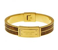 Браслет Michael Kors Heritage Logo Plaque Tortoise-shell Gold-tone Hinge Bangle MKJ2247710