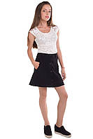 Кружевная блуза для девочки с коротким рукавом