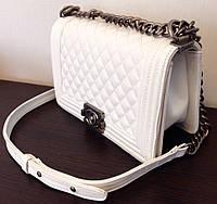 Клатч Chanel boy белый (копия)