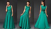 Роскошное вечернее платье из шелк-атласа. Цвета!