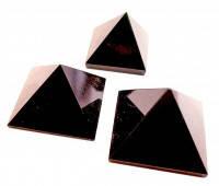 Пирамида Чёрный агат натуральный камень