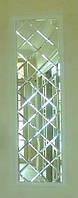 Зеркальное панно 500х2250 серебро фацет 15мм (плитка176мм)
