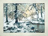 Набор для частичной вышивки крестом  Волки возле зимнего ручья