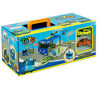 """Паркинг """"TAYO"""", детский игровой гараж, парковочный центр XZ-602, XZ-601"""
