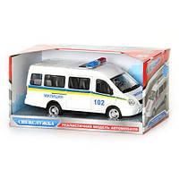 Инерционная игрушечная машина Газель JT 9098 D, полиция, на батарейках
