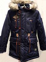 Теплая детская куртка-парка для мальчика 0750