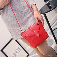 Маленькая женская сумка через плечо (красная)
