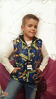 Детская жилетка на мальчика Черепашки № 7001 пал.