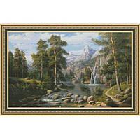 Набор для вышивки крестом Юнона 1101 Озеро в горах