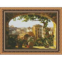 Набор для вышивки крестом Юнона 1102 Окно в Рим