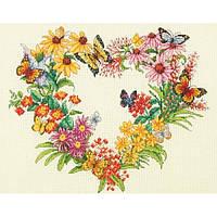 Набор для вышивания  Dimensions 70-35336 Wildflower Wreath/Венок из полевых цветов